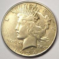 1934-S PEACE SILVER DOLLAR $1 - EXCELLENT CONDITION -  LUSTER -  DATE
