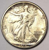 1917 WALKING LIBERTY HALF DOLLAR 50C - EXCELLENT CONDITION -  LUSTER