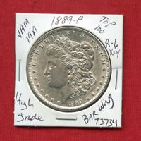 1889 VAM-19A BAR WING TOP 100 MORGAN SILVER DOLLAR 73734 HIGH GRADE  ESTATE