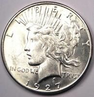 1927-S PEACE SILVER DOLLAR $1 - EXCELLENT CONDITION -  LUSTER -  DATE