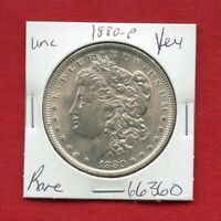 1880 BU UNC MORGAN SILVER DOLLAR 66360 MS COIN US MINT  KEY DATE ESTATE