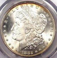 1882 MORGAN SILVER DOLLAR $1 1882-P - PCGS MINT STATE 65 PQ PLUS - NEAR MINT STATE 66