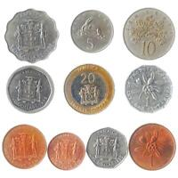 10 COINS FROM JAMAICA. OLD COLLECTIBLE MONEY. CARIBBEAN ISLAND. JAMAICAN DOLLAR