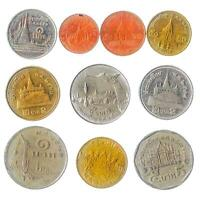 10 DIFFERENT COINS FROM THAILAND OLD COLLECTIBLE MONEY ASIA THAI BAHT SATANG