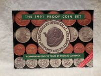 1991   25 YRS DECIMAL CURRENCY    PROOF COIN SET
