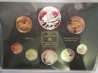2003 CANADA SILVER PROOF SET 100TH ANNIVERSARY COBALT SILVER