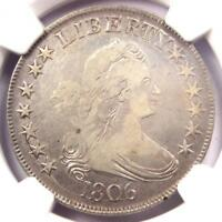 1806 DRAPED BUST HALF DOLLAR 50C COIN - CERTIFIED NGC VF20 - $775 VALUE