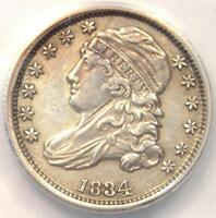 1834 CAPPED BUST DIME 10C  - ANACS AU50 DETAILS -  EARLY CERTIFIED COIN