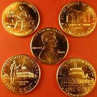 5 COMPLETE SETS  40 COINS  P & D MINT PENNY'S OF THE 2009 LINCOLN BICENTENNIAL