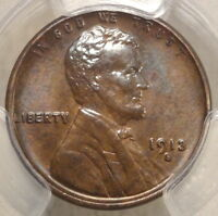 1913-S LINCOLN CENT, UNCIRCULATED, SHARP SEMI-KEY DATE, PCGS CERTIFIED, SLABBED