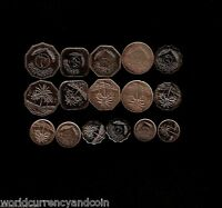 IRAQ 5 10 25 50 100 250 500 1 DINAR COMPLETE SET UNC GULF ARAB IRAQI MONEY COIN