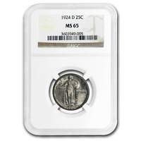 1924-D STANDING LIBERTY QUARTER MINT STATE 65 NGC
