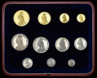 1887 GREAT BRITAIN VICTORIA JUBILEE GOLD / SILVER PROOF SET