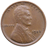1923 LINCOLN WHEAT CENT EXTRA FINE PENNY EXTRA FINE