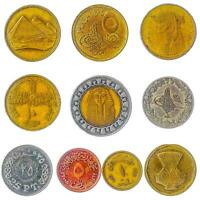 COINS FROM ARAB REPUBLIC OF EGYPT OLD COLLECTIBLE EGYPTIAN MONEY PIASTRES POUND