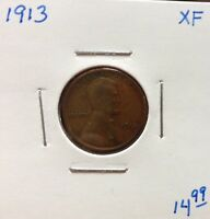 1913 1C BN LINCOLN CENT