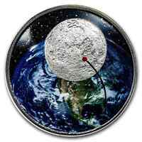 2019 1 OZ SILVER 50TH ANNIVERSARY MOON LANDING CURVED PROOF   SKU173177