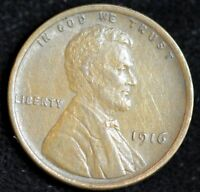 1916 P LINCOLN WHEAT CENT,  FINE CONDITION, SHIPS FREE IN USA C4040