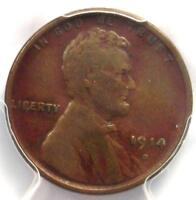 1914-D LINCOLN WHEAT CENT 1C - PCGS VF20  FINE -  KEY DATE PENNY