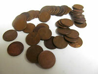 1944 P CIRCULATED LINCOLN WHEAT CENT CENT ROLL 50 COIN & TUB