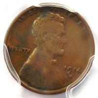 1914-D LINCOLN WHEAT CENT 1C - PCGS VF25  FINE -  KEY DATE PENNY