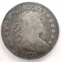1807 DRAPED BUST HALF DOLLAR 50C - NGC / NCS VF DETAILS -  CERTIFIED COIN