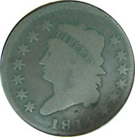 1814 CLASSIC HEAD LARGE CENT VG CONDITION,  ESTATE FIND - Z OP