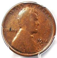 1914-D LINCOLN WHEAT CENT 1C - PCGS VG DETAILS -  KEY DATE CERTIFIED PENNY