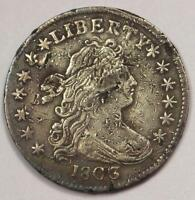 1803 DRAPED BUST DIME 10C COIN - EXTRA FINE  DETAILS CORROSION -  CLASSIC COIN