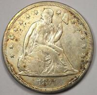 1871 SEATED LIBERTY SILVER DOLLAR $1 - EXTRA FINE  DETAILS EF -  EARLY TYPE COIN