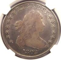 1802/1 DRAPED BUST SILVER DOLLAR $1 COIN - CERTIFIED NGC FINE DETAILS -