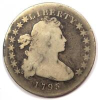 1795 SMALL EAGLE DRAPED BUST SILVER DOLLAR $1 -  COIN