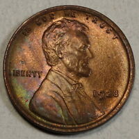 1923 LINCOLN CENT, GEM BROWN UNCIRCULATED COIN,  COLOR    0927-10