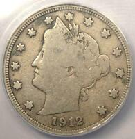 1912-S LIBERTY NICKEL 5C - ANACS F12 DETAILS -  KEY DATE CERTIFIED COIN