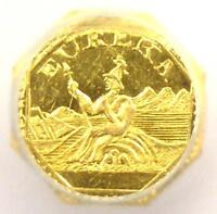 1884 CALIFORNIA GOLD ARMS OF CALIFORNIA - CERTIFIED ICG MINT STATE 64 PL PROOFLIKE BU