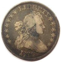 1800 DRAPED BUST SILVER DOLLAR $1 -  FINE VF -  TYPE COIN