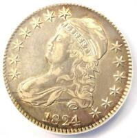 1824/1 CAPPED BUST HALF DOLLAR 50C - ANACS EXTRA FINE 45 DETAILS EF45 -  OVERDATE