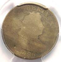 1796 DRAPED BUST DIME 10C - CERTIFIED PCGS FAIR DETAILS - FIRST DIME MINTED