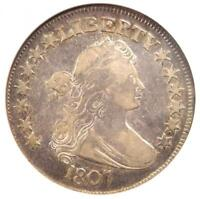 1807 DRAPED BUST HALF DOLLAR 50C COIN - CERTIFIED NGC F12 -  COIN