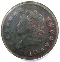 1810/09 CLASSIC LIBERTY LARGE CENT COIN 1C S-281 - CERTIFIED NGC VF DETAILS