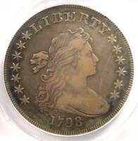 1798 DRAPED BUST SILVER DOLLAR $1 - ANACS VF30 DETAILS -  COIN - LOOKS EXTRA FINE