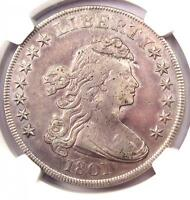 1801 DRAPED BUST SILVER DOLLAR $1 - NGC VF DETAILS  FINE -  COIN