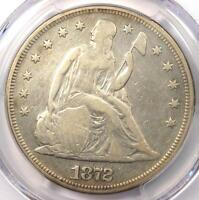 1872 SEATED LIBERTY SILVER DOLLAR $1 - PCGS VF DETAILS -  CERTIFIED COIN