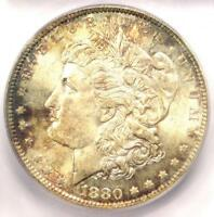 1880-O MORGAN SILVER DOLLAR $1 - ICG MINT STATE 64 -  DATE IN MINT STATE 64 - $1,690 VALUE