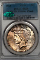 1923 PEACE DOLLAR PCGS MINT STATE 65 CAC APPROVED TOP 50 VAM 1D WHISKER CHEEK 83778828