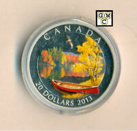 2013 'AUTUMN BLISS' COLORIZED PROOF $20 SILVER COIN 1OZ .9999FINE 13276  NT OOAK