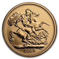 2019 GREAT BRITAIN GOLD SOVEREIGN BU   SKU182456