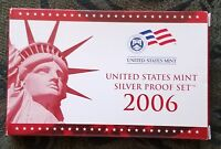 COMPLETE 2006 S U.S. MINT 10 COIN SILVER PROOF SET W/STATE Q