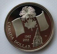 2005 CANADA 40TH ANNIVERSARY OF CANADIAN FLAG PROOF SILVER D