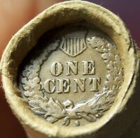 S TAIL INDIAN/1882 INDIAN HEAD CENT ENDS MIXED ANTIQUE ROLL